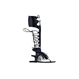 Ancient Greek Sandals for Marios Schwab High - Black