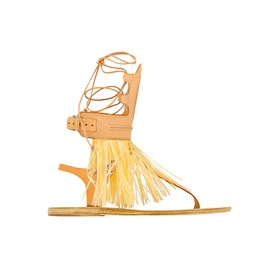 Ancient Greek Sandals for Marios Schwab Low - Natural