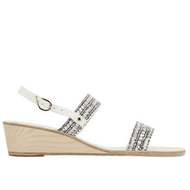 Clio Wedge - Print_white/black
