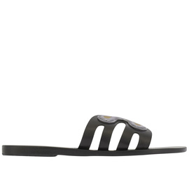 Ancient Greek Sandals with Peter Pilotto Silicon Flower - Black
