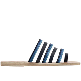 Niki Raffia - Marine/Blue Stripes