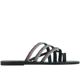 Apli Amalia Raffia - Black/Dark Den Stripes