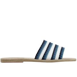 Taygete Raffia - White/Blue Stripes