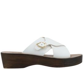 Marilisa Sabot - White/Chestnut Heel