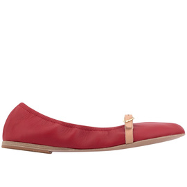 Ballerinas V-Cut - NAPPA RED/NATURAL