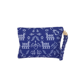 ABUNDANCE CLUTCH - BLUE/WHITE