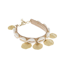 SHELLS & COINS - NATURAL/MATTE GOLD