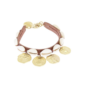 Shells & Coins - Chestnut/Matte Gold