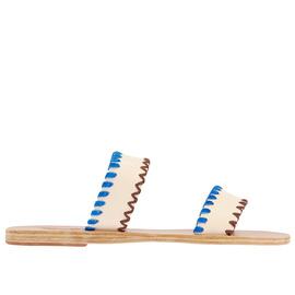 MELIA STITCH - OFF WHITE/BLUE SUEDE