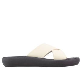 THAIS COMFORT - OFF WHITE/BLACK SOLE
